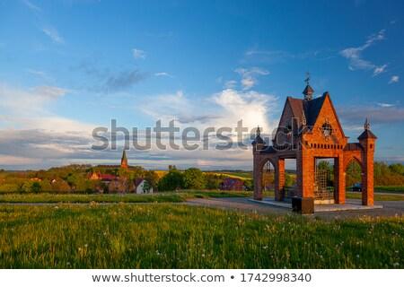 Catedral basílica virgem céu cidade pôr do sol Foto stock © benkrut