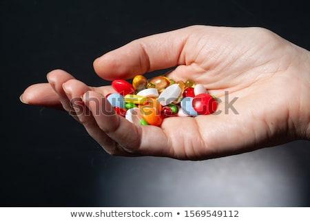 Narkotyków kobieta lek domu człowiek zdrowia Zdjęcia stock © AndreyPopov