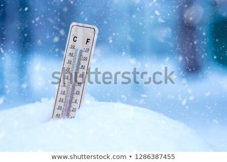 термометра зима время иллюстрация дизайна искусства Сток-фото © bluering