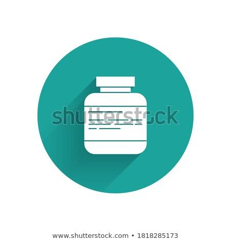 Geneeskunde pillen capsules fles icon schaduw Stockfoto © Imaagio