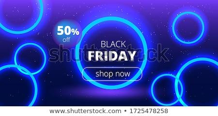 black friday dark background stylish design template stock photo © sarts