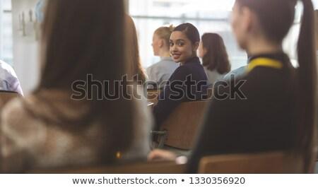 портрет счастливым молодые деловая женщина улыбаясь Сток-фото © wavebreak_media