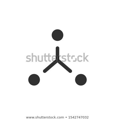 Yapı ikon iş iletişim yapılandırma işbirliği Stok fotoğraf © kyryloff