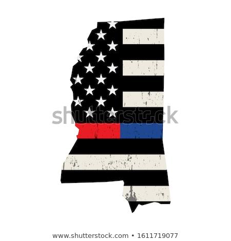Mississippi policji strażak wsparcia banderą amerykańską flagę Zdjęcia stock © enterlinedesign
