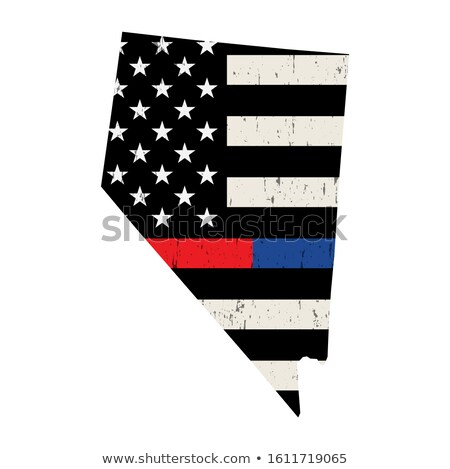 State of Nevada Police and Firefighter Support Flag Illustration Stock photo © enterlinedesign