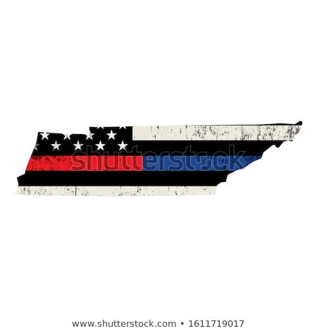 Tennessee police soutien pavillon illustration forme Photo stock © enterlinedesign