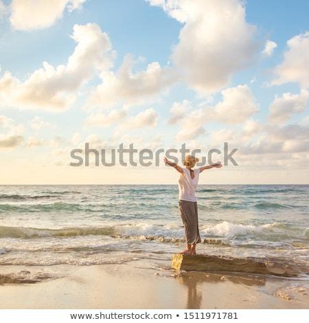 Blond zee sexy strand hemel Stockfoto © nomadsoul1
