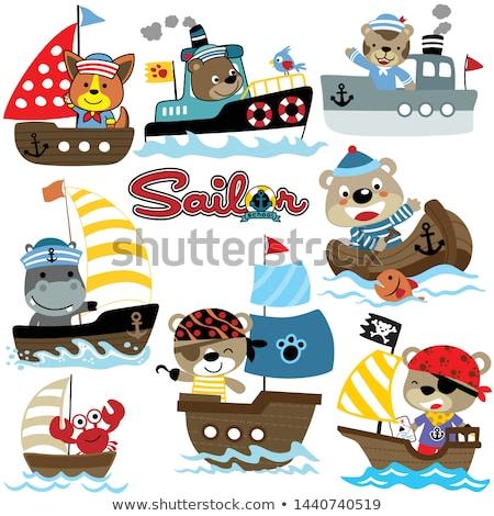 Suaygırı tekne suaygırı oturma 3d render örnek Stok fotoğraf © orla