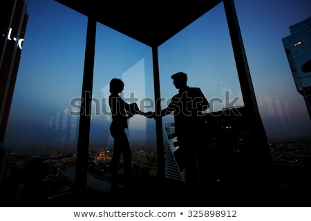 Hands of successful business partners congratulating each other on new deal Stock photo © pressmaster