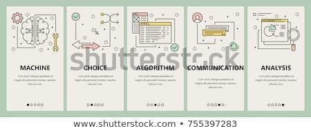 Foto stock: Programação · inteligência · artificial · bandeira · templates · conjunto · moderno