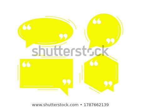 Cztery czarny dialog balony szablon Zdjęcia stock © SArts