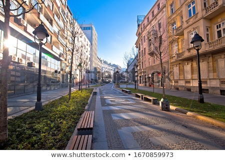 Belgrade. Cobbled streets in historic Beograd city enter view Stock photo © xbrchx