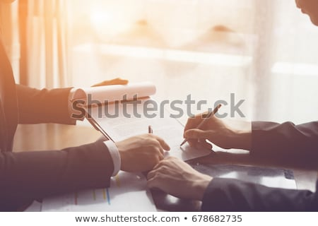 Businessperson Signing Contract Stock photo © AndreyPopov