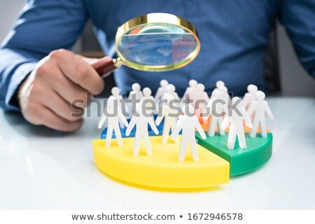 Businessperson Analyzing Market Segment Stock photo © AndreyPopov