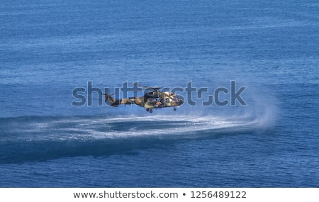 Militar aerodeslizador armado abrir mar Foto stock © jossdiim