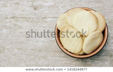 Házi készítésű vaj kekszek ropogós finom diók Stock fotó © Peteer