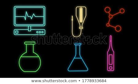 Injeção médico relatório ícone vetor Foto stock © pikepicture