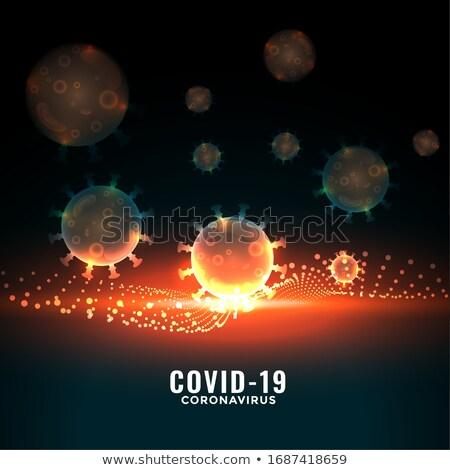 Coronavirus weerstand muur gezondheid wetenschap gevaar Stockfoto © SArts