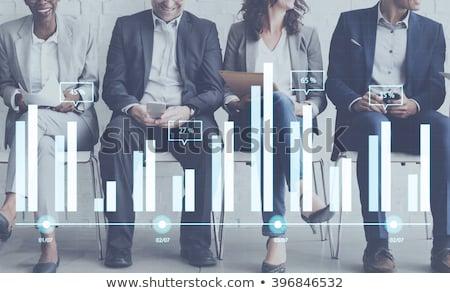 Statistik Graphen Charts Menschen Analytik finanziellen Stock foto © robuart