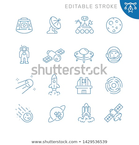 Astronaut Moon Rover Icon Outline Illustration Stock photo © pikepicture