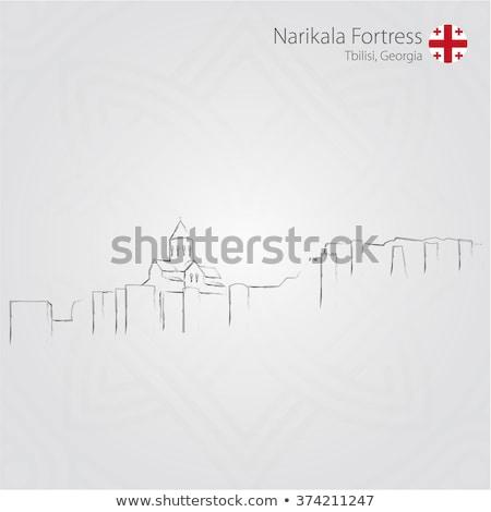 Fortaleza iglesia Georgia vista ciudad paisaje Foto stock © boggy