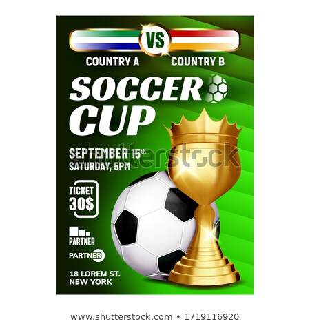 Soccer Sportive Champion Cup Booklet Poster Vector Stock photo © pikepicture