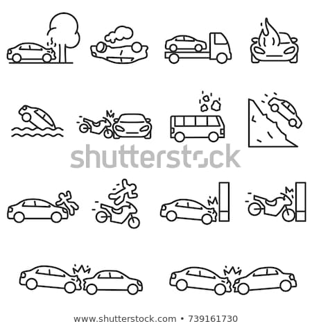 Smoking Car Icon Vector Outline Illustration Stock photo © pikepicture