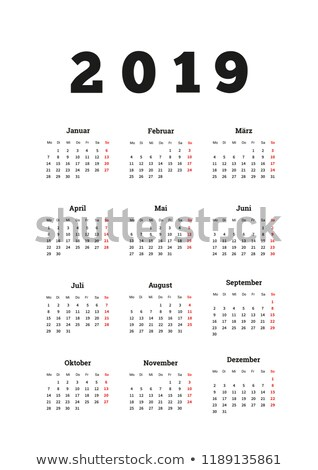 2019 year simple calendar on german language, a4 vertical sheet isolated on white Stock photo © evgeny89