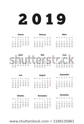 év egyszerű naptár nyelv függőleges lap Stock fotó © evgeny89