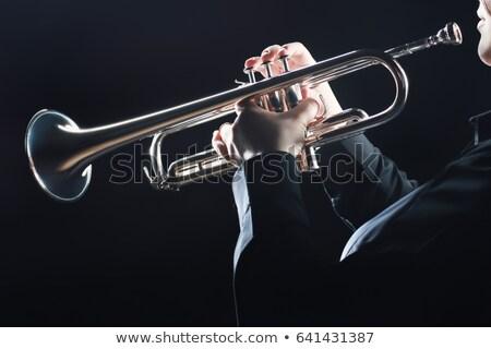 женщину трубы игрок довольно играет Сток-фото © rcarner
