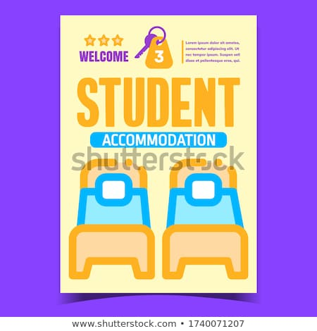 Student Accommodation Creative Promo Poster Vector Stock photo © pikepicture