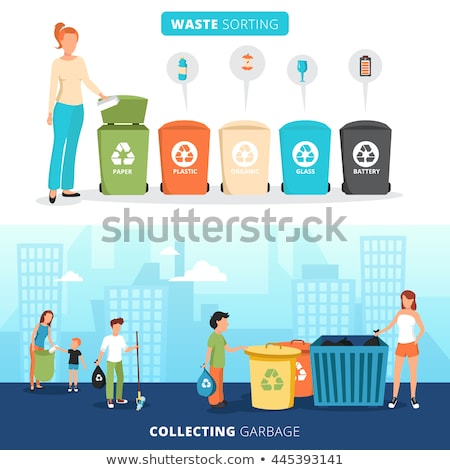 Garbage collection and sorting abstract concept vector illustration. Stock photo © RAStudio