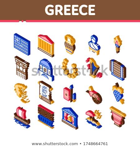Grécia país história isométrica vetor Foto stock © pikepicture