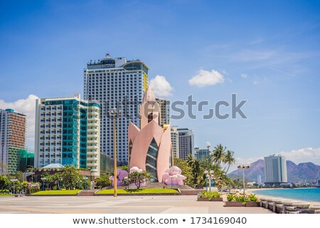 The central building of Lotus in Nha Trang. No tourists in Nha Trang during the coronavirus COVID 19 Stock photo © galitskaya