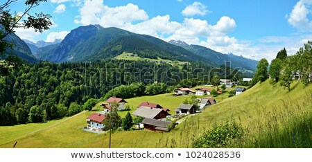 Dolomites mountain village summer view stock photo © wildman