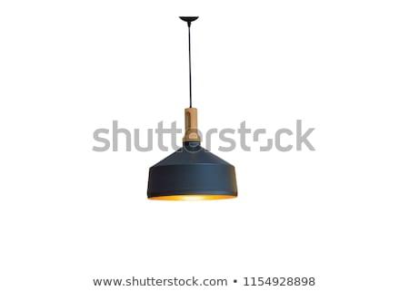 Fekete lámpa izolált fehér vágási körvonal háttér Stock fotó © dehooks