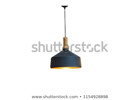 Zwarte lamp geïsoleerd witte achtergrond Stockfoto © dehooks