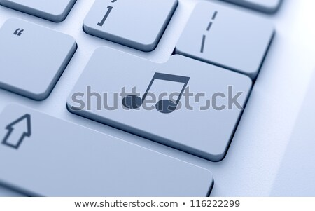 Button keypad music with treble clef and notes. Stock photo © borysshevchuk