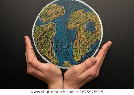 Earth on blackboard Stock photo © leeser