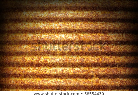 Rusty corrugated metal surface dramatically lit  Stock photo © Balefire9