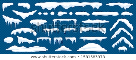 Blauw bevroren water winter ijs Stockfoto © Anna_Om