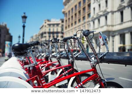 Bikes for Rent in Barcelona - Spain. Stock photo © fazon1
