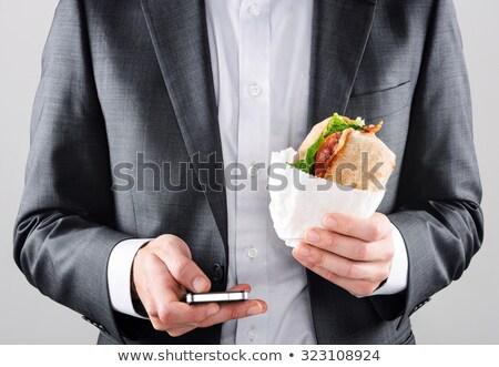 Blt ロール ベーコン レタス トマト サンドイッチ ストックフォト © bendicks