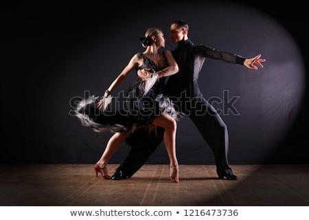 Casal dançarinos posando branco música Foto stock © feedough