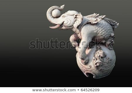 花柄 · 伝統的な · タイ · スタイル · 芸術 · 壁 - ストックフォト © rufous