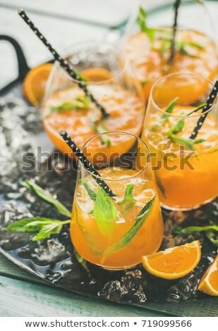 Turuncu kokteyl dikey turuncu dilim yan Stok fotoğraf © bugstomper