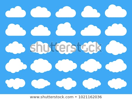Set of cloud-shaped paper banners stock photo © AnnaVolkova