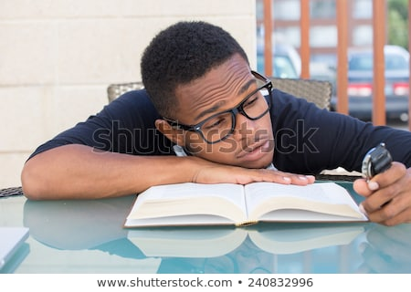 portrait of student cramming for exams Stock photo © photography33