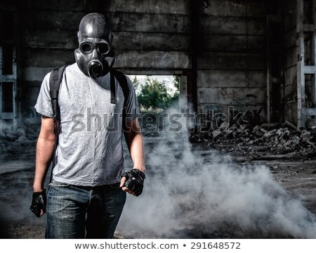 Stock photo: terrorist with gas mask
