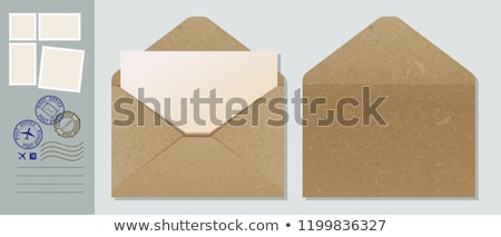 vector open vintage envelope stock photo © orson